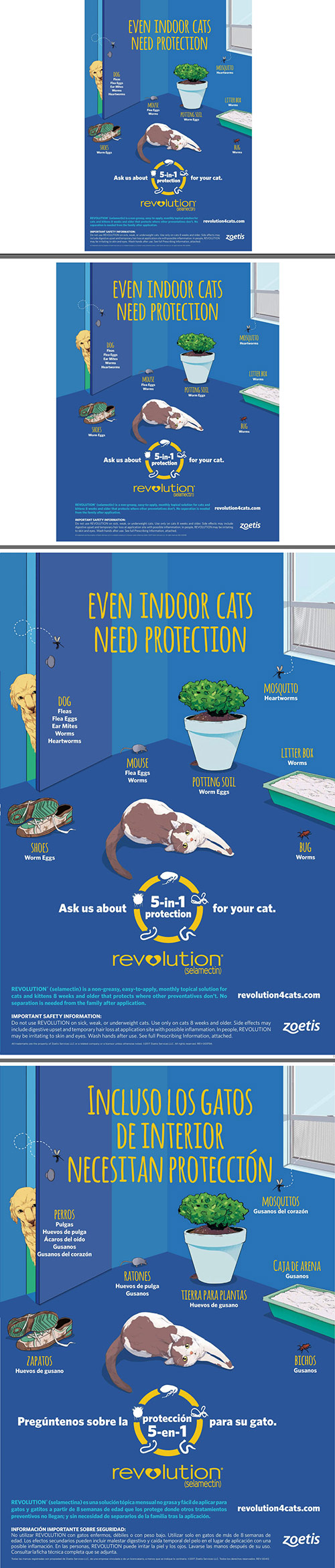 Indoor cats at-risk poster