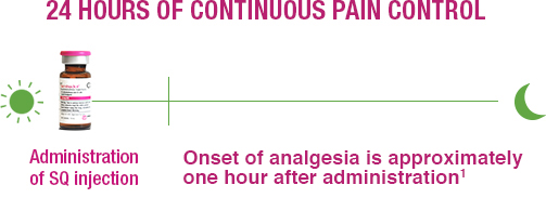 SIMBADOL onset of analgesia
