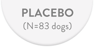 Placebo (N  = 83 dogs)